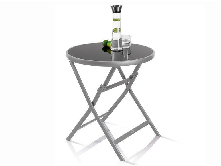 Florabest Alu Glastisch Klappbar Grau 1 Glastische Tisch Glas