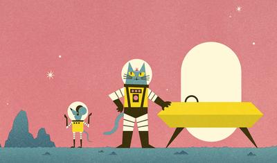 Pequeño cosecha de la última página de 'Fronteras del Profesor Astro gato del Espacio' ... Por el Dr. Dominic Walliman y Ben Newman.  Publicado en octubre de 2013 por Flying Books ojos.