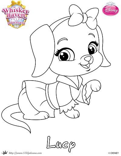 Whisker Haven Tales Coloring Page Of Lucy Princess Coloring Pages Disney Coloring Pages Dog Coloring Page