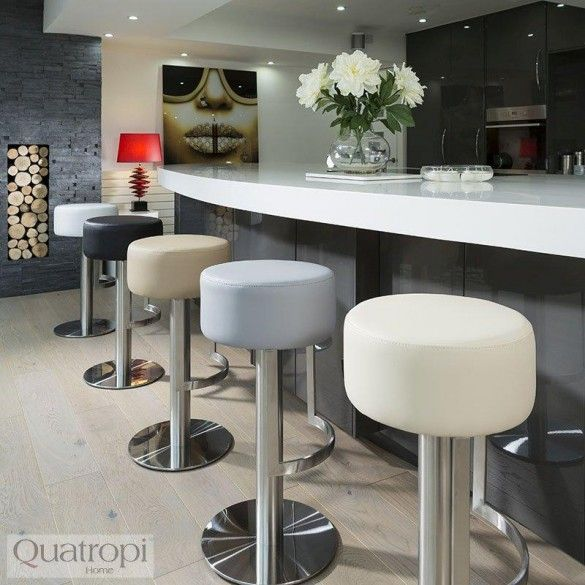 Enjoyable Luxury Grey Kitchen Breakfast Bar Stool Seat Brushed Squirreltailoven Fun Painted Chair Ideas Images Squirreltailovenorg