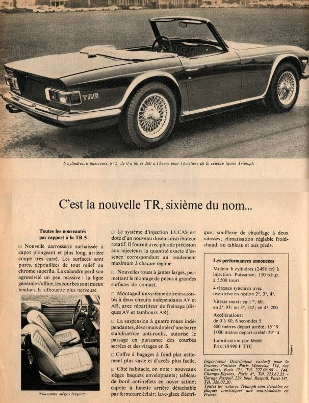 Triumph Tr6 Tr6 Triumph Tr3 British Sports Cars Vintage Cars