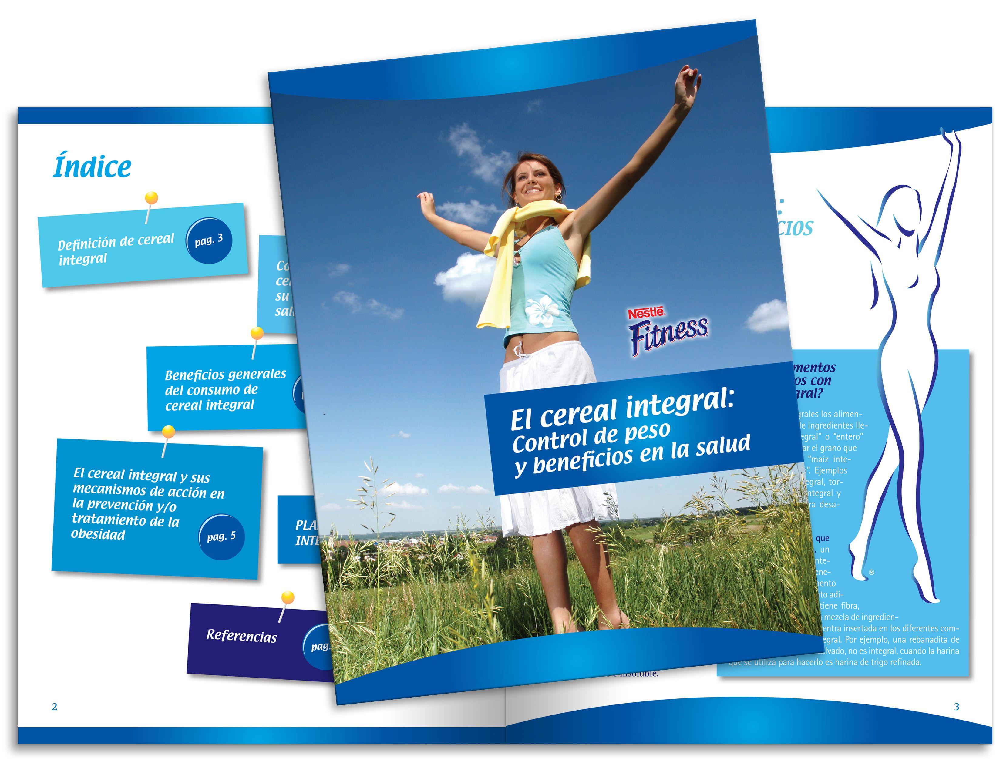 Diseño publicitario/editorial - Stop Diseño Gráfico - Diseño de Dossier Fitness 1 - Cereal Partners Worldwide - Nestlé México.