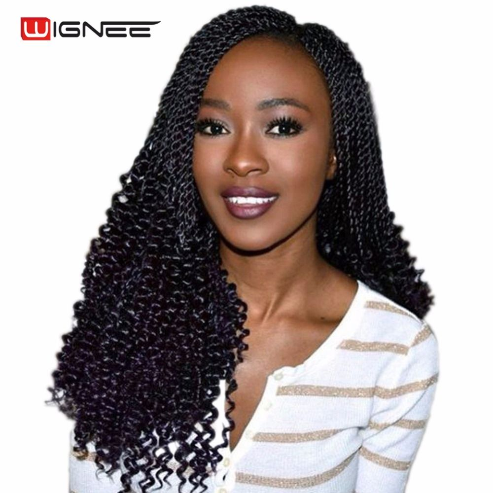 US Feb Onlyue Wignee  Inches Curly Senegalese Twist Crochet