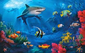 Resultado De Imagen Para Ecosistema Acuatico Ikan Lukisan Seni Lukisan
