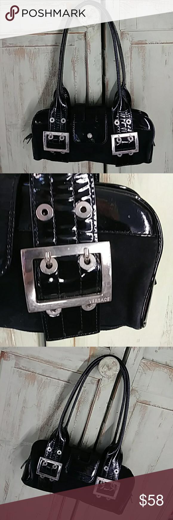 871958f8e87 Spotted while shopping on Poshmark  Gianni Versace Italian black patent  leather purse!  poshmark  fashion  shopping  style  Gianni Versace  Handbags