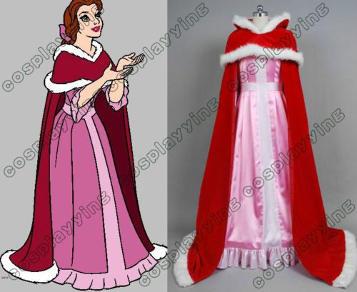 Beauty and The Beast Belle Cosplay Costume Pink Dress | eBay