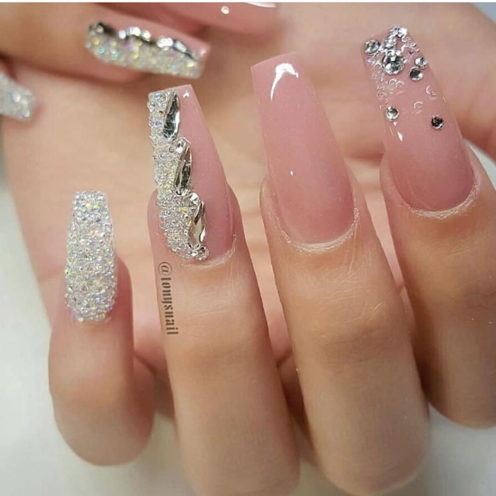 100 Spring Nail Art Designs For Women 2020 In 2020 Coffin Nails Designs Nail Designs Long Acrylic Nails