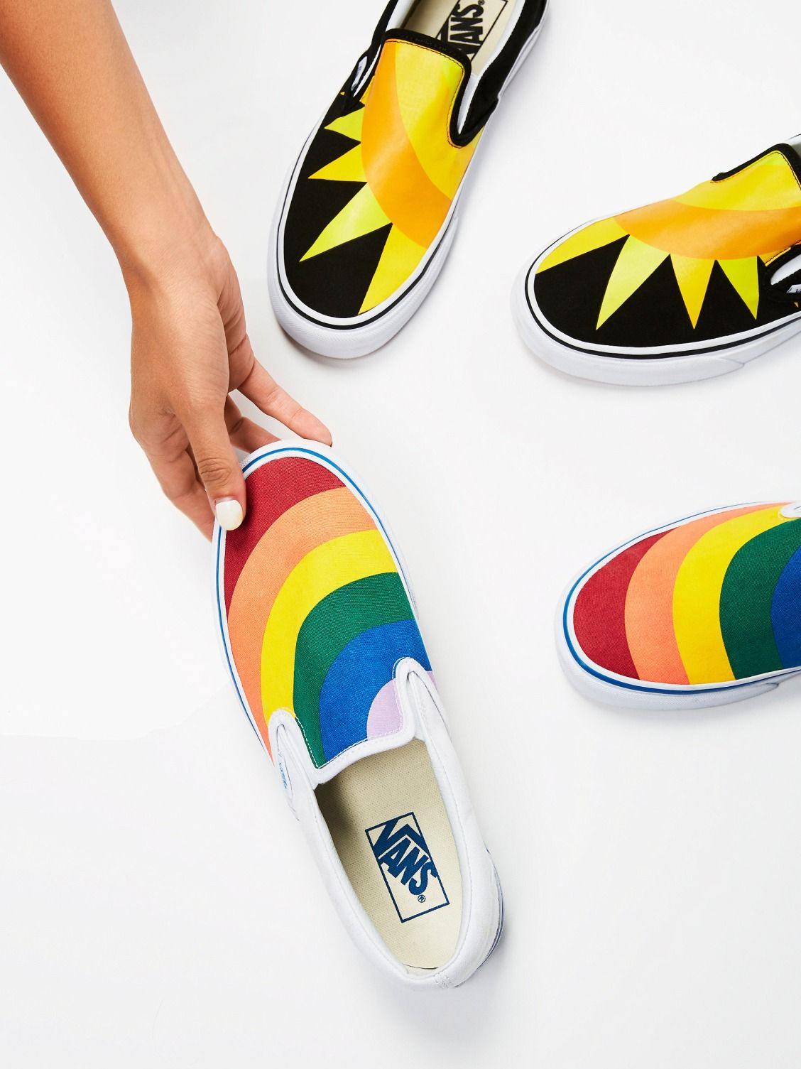 Vans Rainbow Rainbow Classic Slip On Sneaker at Free People Clothing  Boutique 7f52ed590