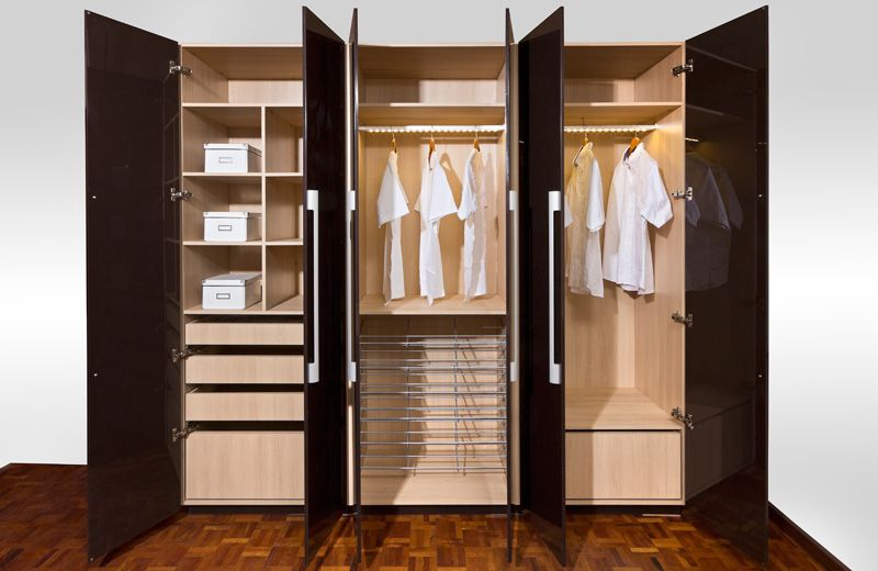 closets for studios with no closet Línea de clósets