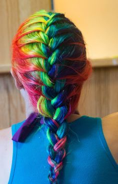 Rainbow Box Braids Google Search Things To Wear Pinterest - Hairstyle for color run