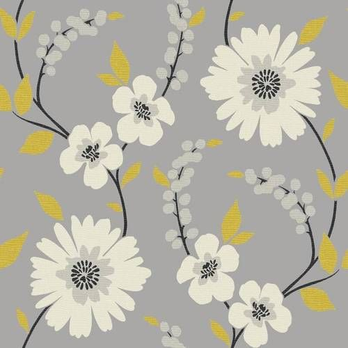 Grey / Yellow 414200 Stansie Floral Arthouse