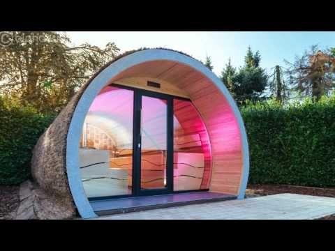 Traumgarten Mit Eclipse Aussensauna Outdoor Sauna Hot Tub Outdoor Jacuzzi Outdoor