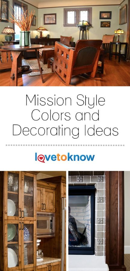 Mission style decorating and colors are an excellent way to capture ...