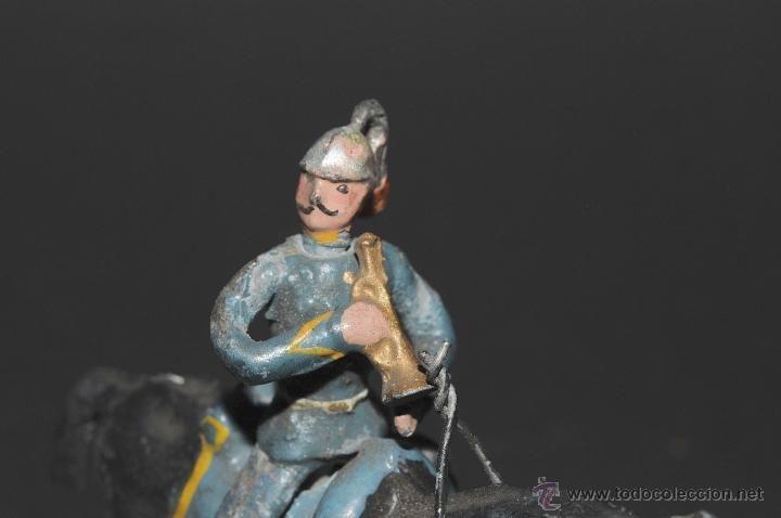 Juguetes Antiguos: SOLDADO A CABALLO DE PLOMO CON TROMPETA - Foto 3 - 41324063