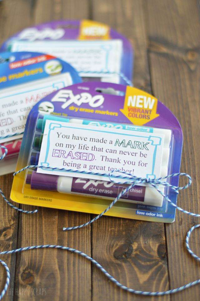 Baby Gift Ideas For Teachers From Students : Dry erase marker teacher appreciation gift
