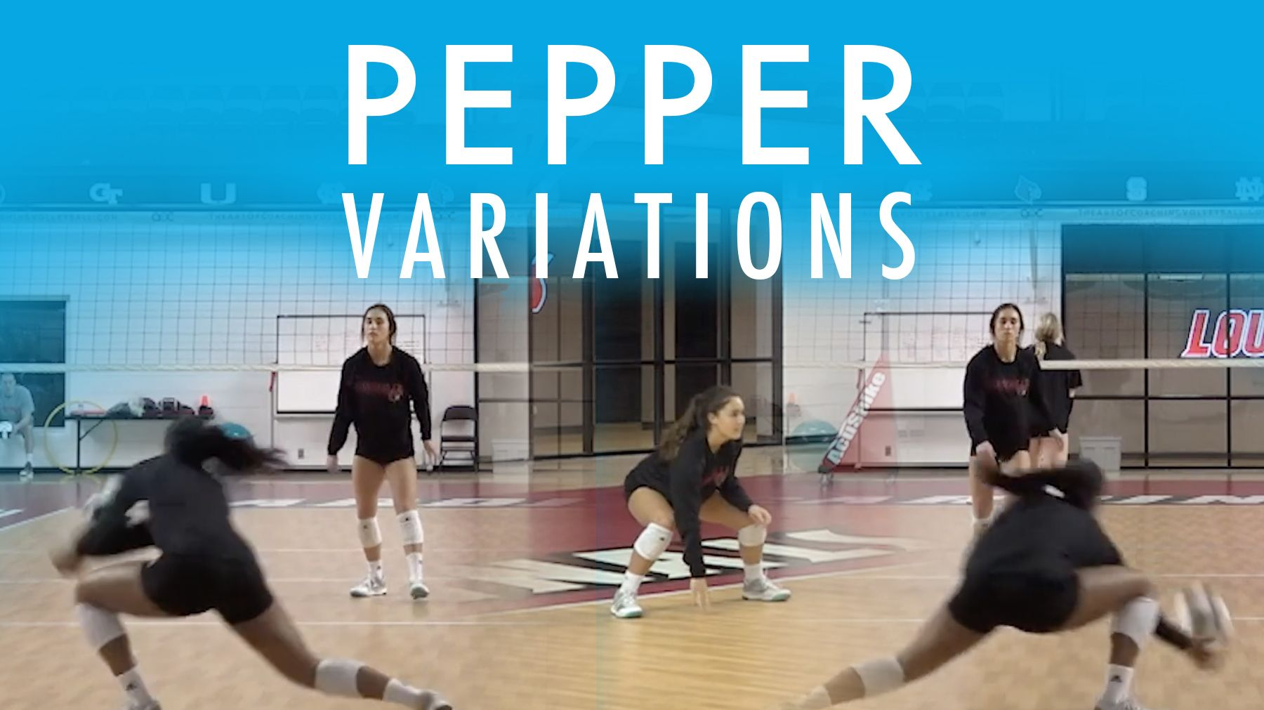 Individual Defense Pepper Variations The Art Of Coaching Volleyball Coaching Volleyball Volleyball Practice Volleyball Workouts
