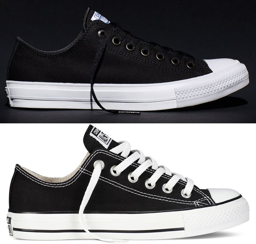 bac81f8be6b How The Converse Chuck Taylor All Star   Chuck II Compare