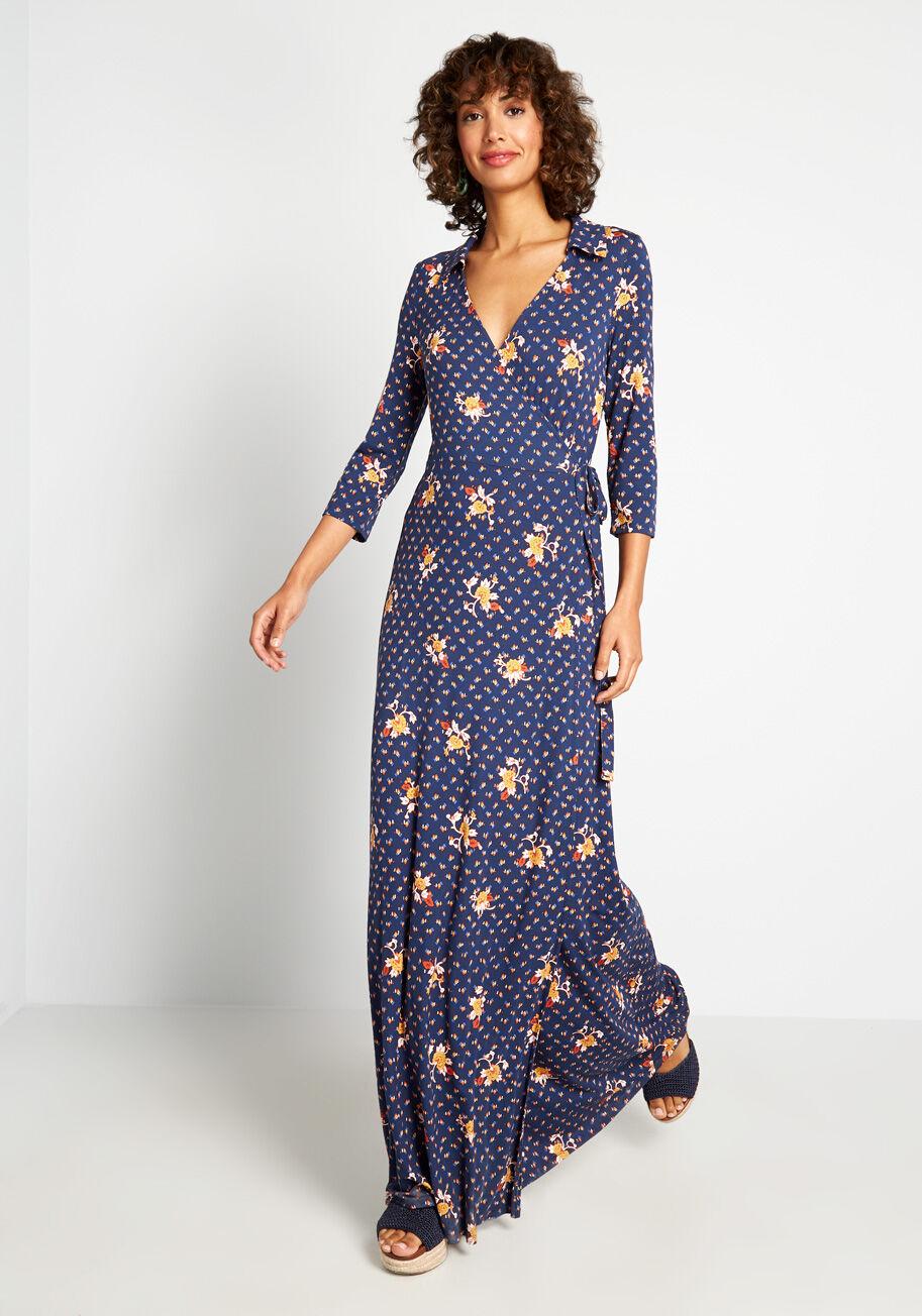 Spring It On Me Wrap Dress Wrap Dress Mod Cloth Dresses 70s Inspired Fashion [ 1304 x 913 Pixel ]