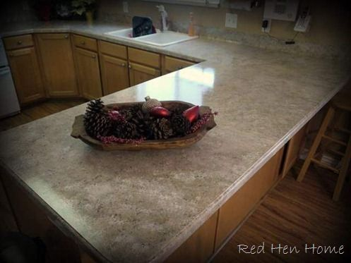 Painting Laminate Counter Tops To Look Like Granite. $80... Looks Like $3500