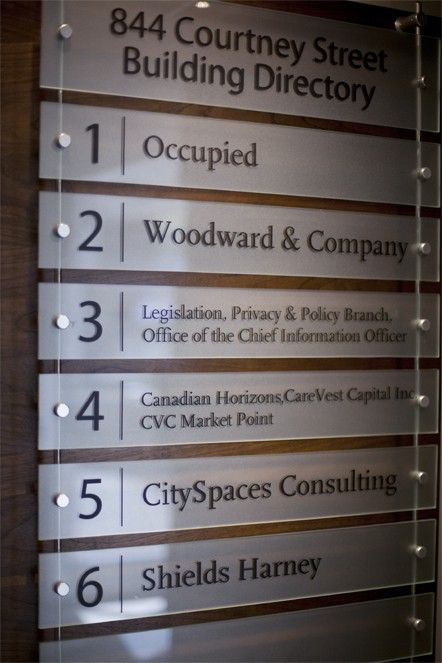 Building Directory Signage Directory Signage Architectural Signage Office Signage