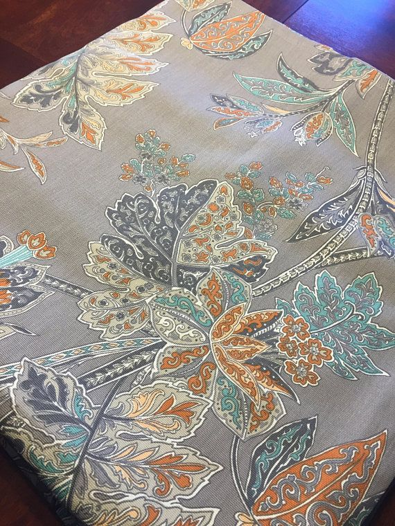 Square Tablecloth 70 Inch Fits Pub Table Grey With Burnt