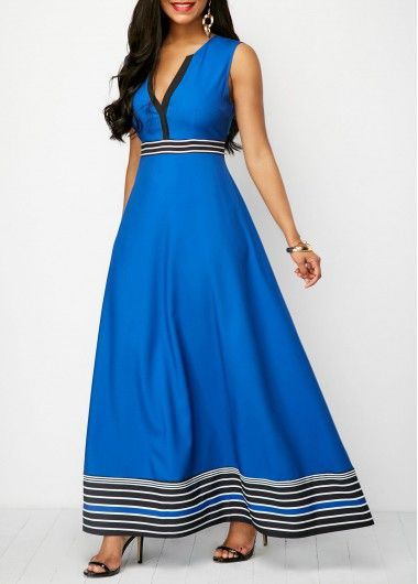 853eac521126 Split Neck Printed Button Detail Sleeveless Maxi Dress on sale only  US 34.60 now