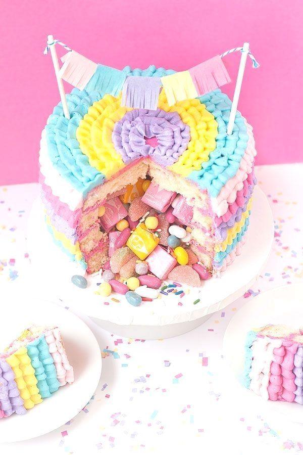 Photo of #DIY # Piñata #Cake DIY Piñata Cake | Streusel zum Frühstück –  #DIY # Piña…