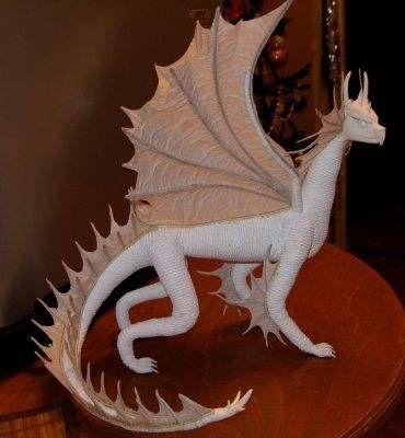 Своими руками дракон из папье маше