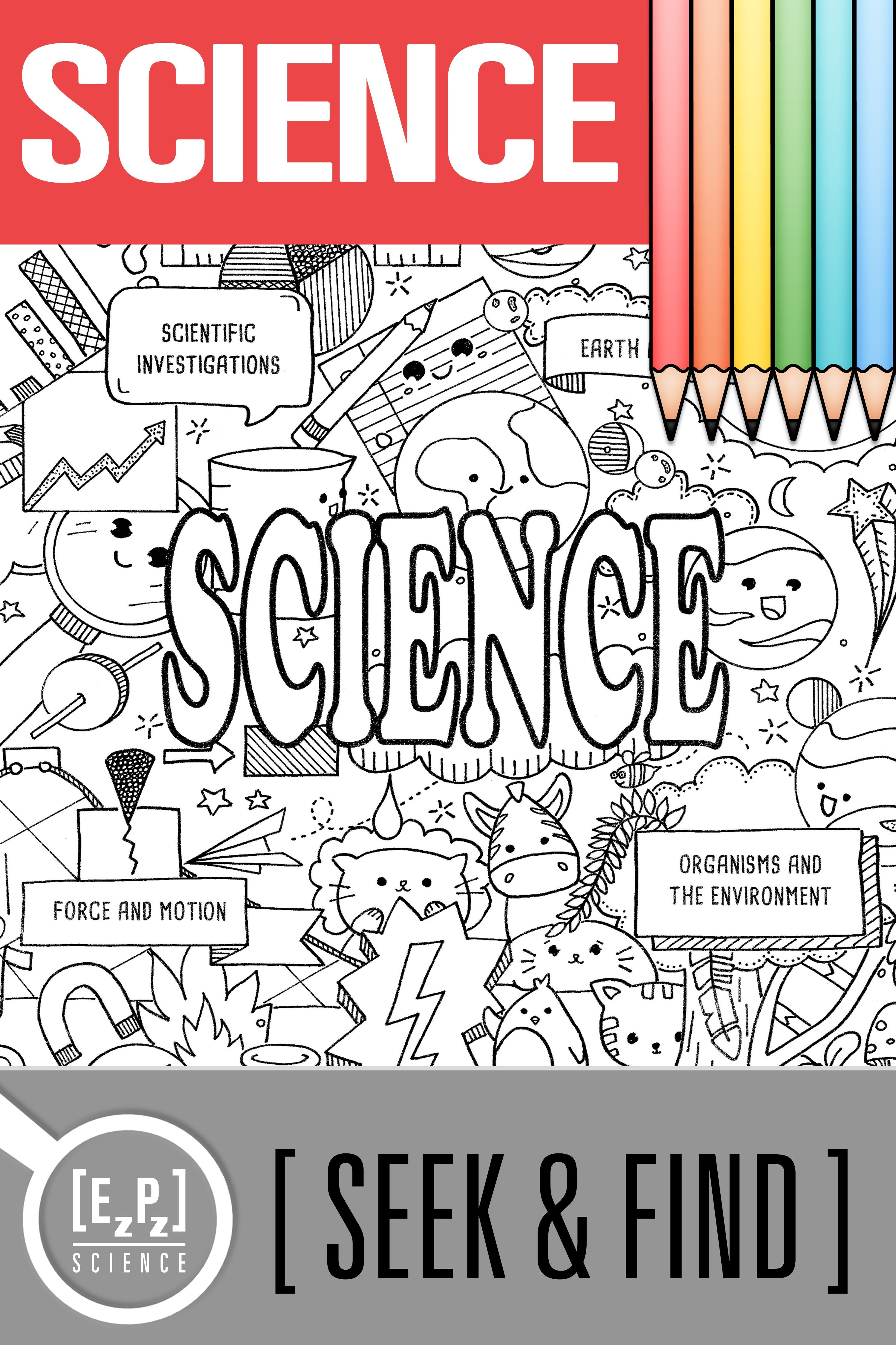 Science Seek And Find Science Doodle Activity No Prep Printable And Digital Science Doodles Science Doodle Pages