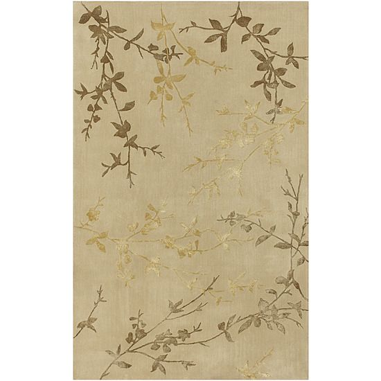 Surya TAM1004-913 Tamira Rug- 100 Pct Wool * Viscose- Hand Tufted- Tan/Gold- 9X13 Review Buy Now
