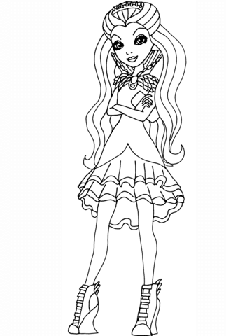 Ever After High Raven Queen Pagina Para Colorir Ever After High Raven Queen Ever After