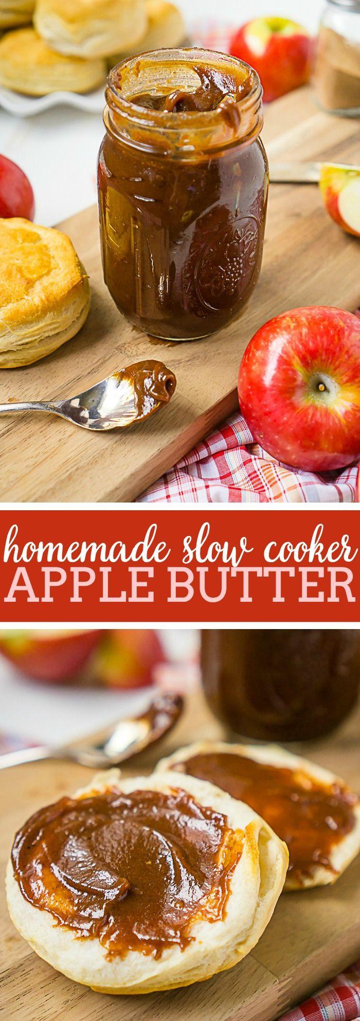 Homemade Apple Butter in Slow Cooker Recipe Apple