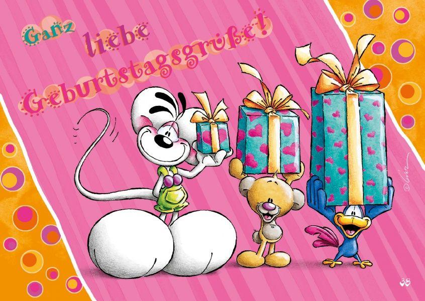 Ganz liebe Geburtstagsgrüße! | Diddl and Friends | Happy birthday