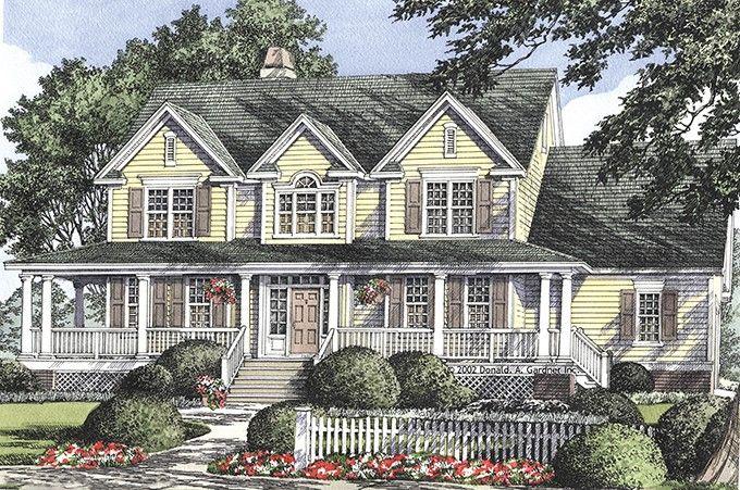 Eplans Farmhouse House Plan Vintage Columns 2384