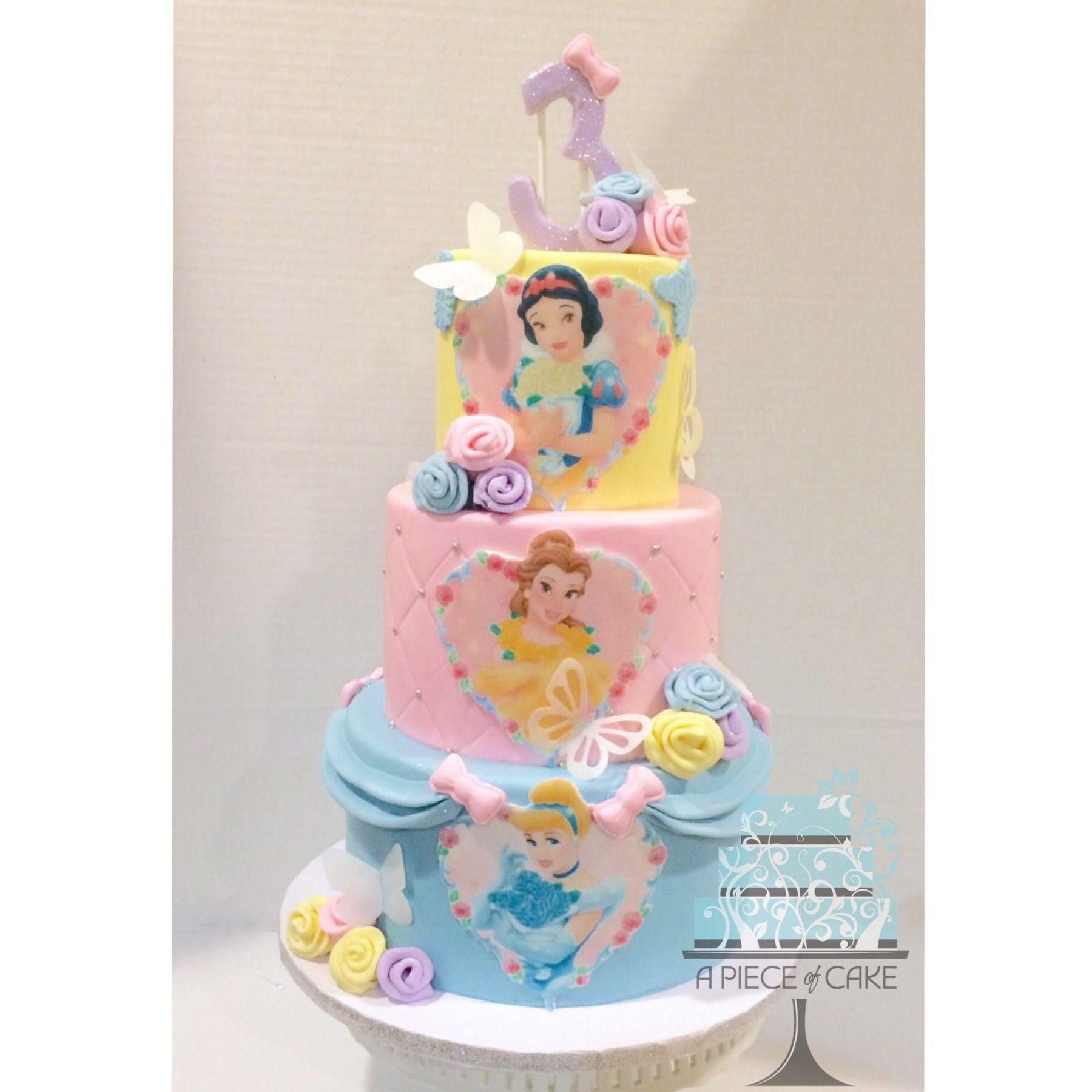 Disney Princess Birthday Cake By A Piece Of Cake Princesa Disney
