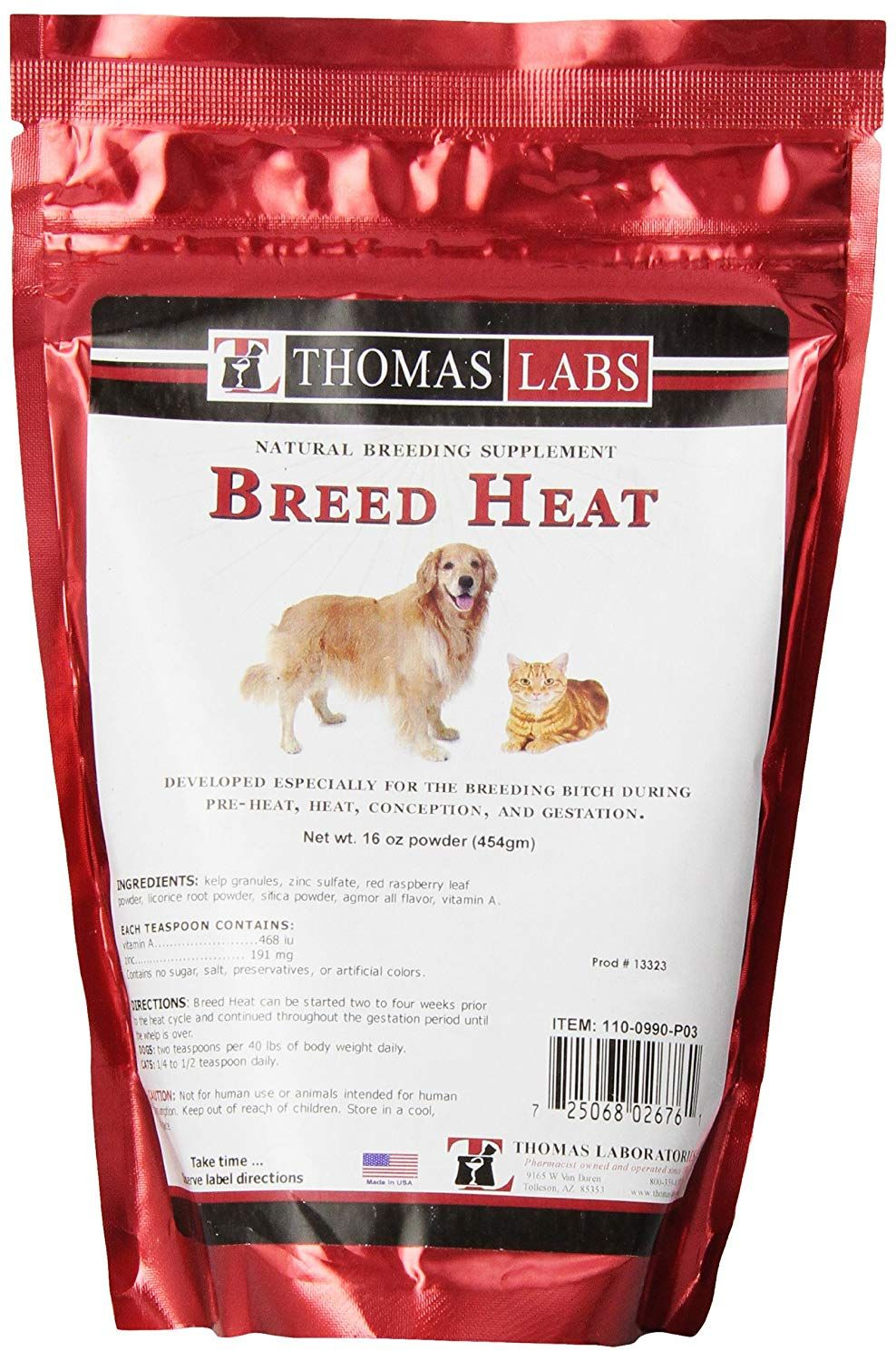 Breed Heat 16 Oz Powder Continue To The Product At The Image Link This Is An Affiliate Link Kitten Cat Health Dog In Heat Dog Heat Cycle