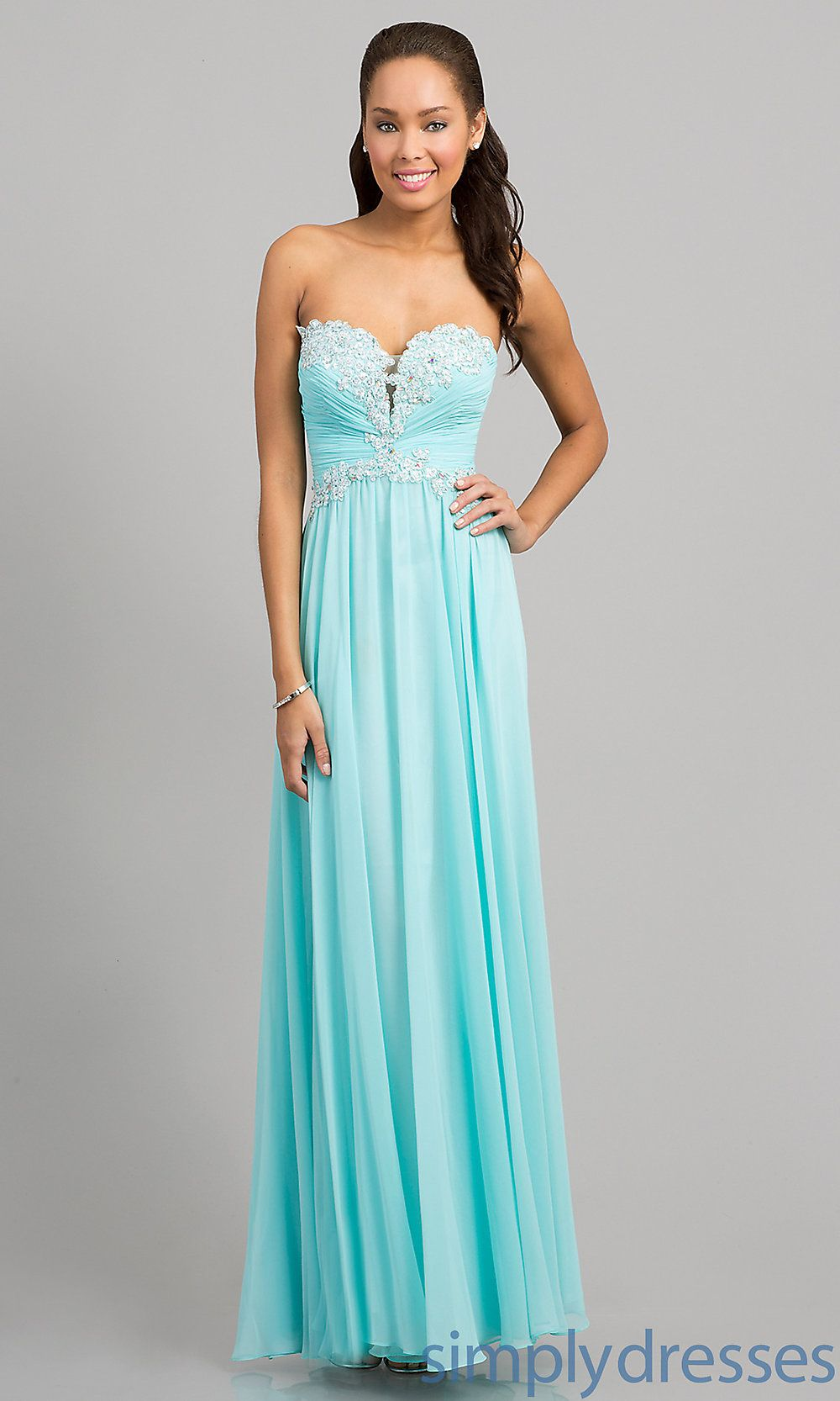 Strapless blue prom gown corset back prom gowns simplydresses