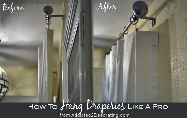 How To Hang Draperies And Curtains Like A Designer Hang