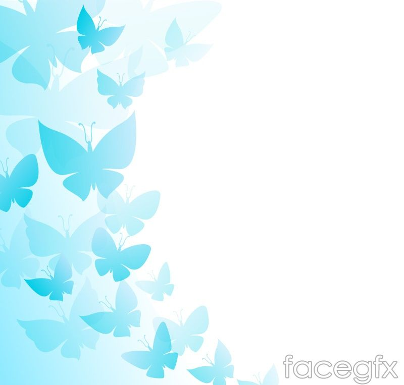 Sweet Cute Wallpapers Of Flowers Blue Butterfly Decoration Background Vector Free Vectors