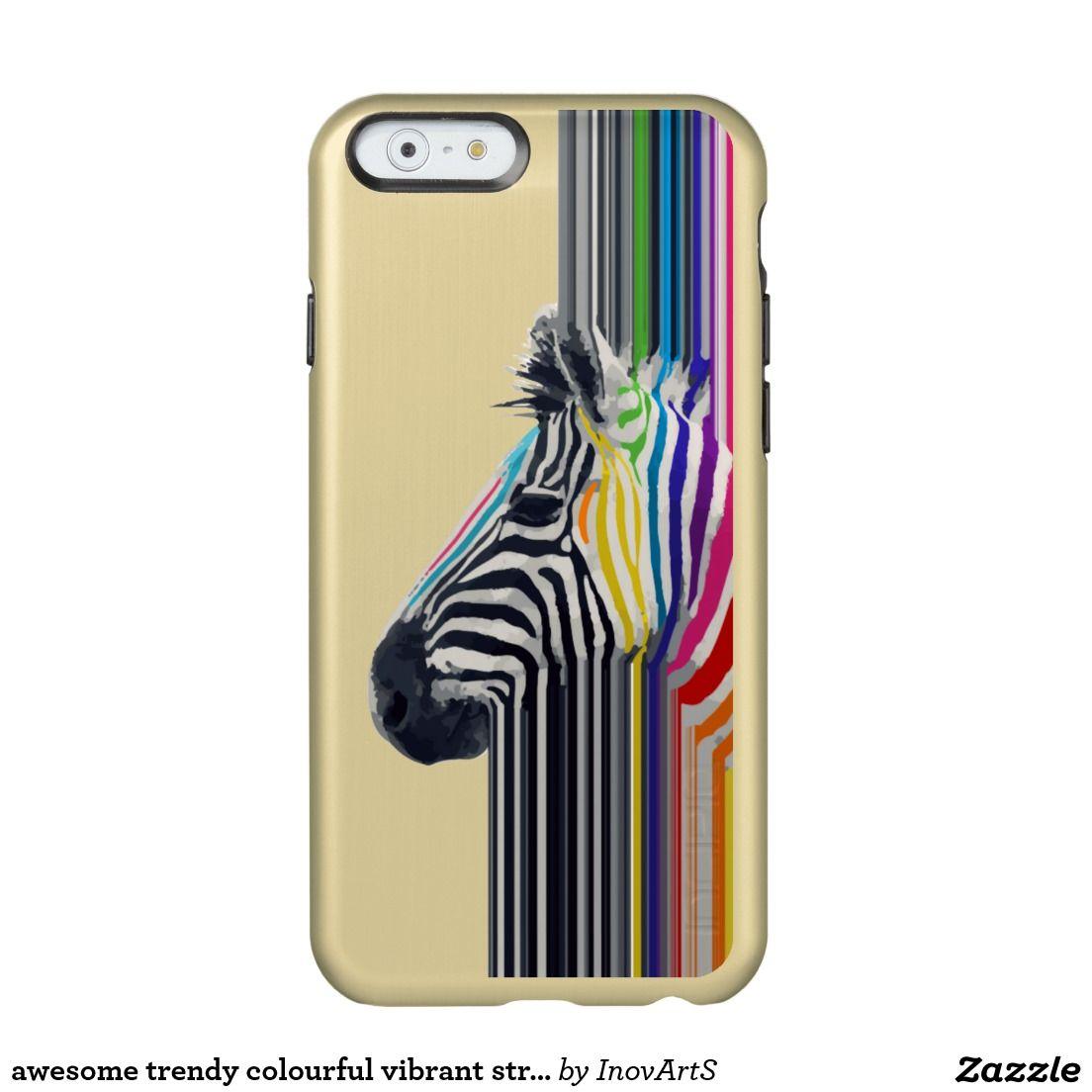 awesome trendy colourful vibrant stripes zebra incipio feather® shine iPhone 6 case