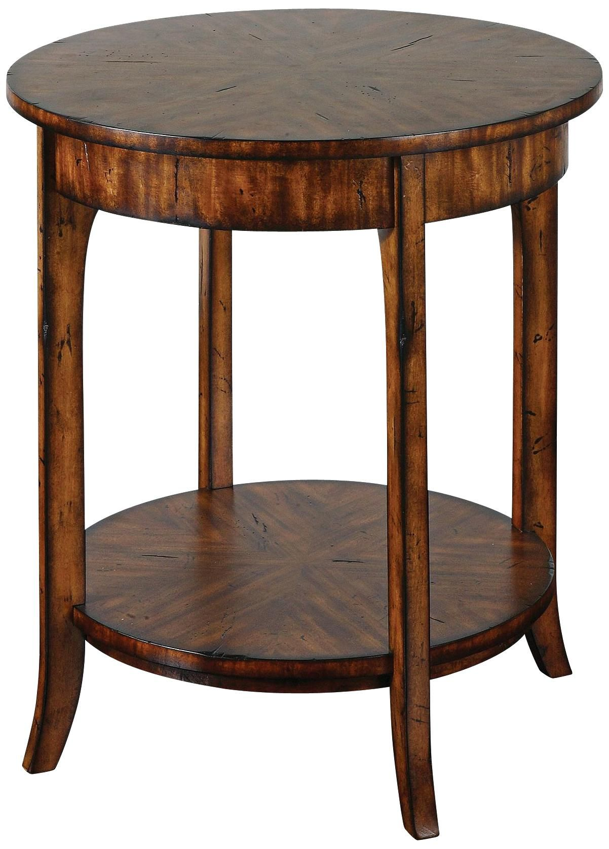 Uttermost Carmel Distressed Veneer Lamp Table -