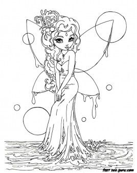 printable beautiful fairy on water coloring in pages printable coloring pages for kids
