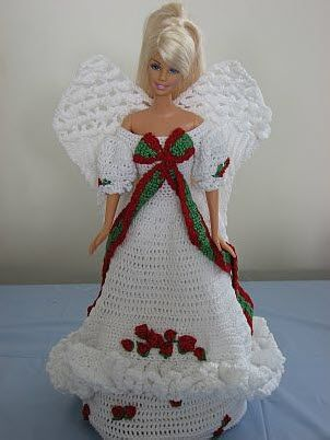 Holiday Rose Barbie Angel Free Crochet Pattern. There are 3 parts to ...