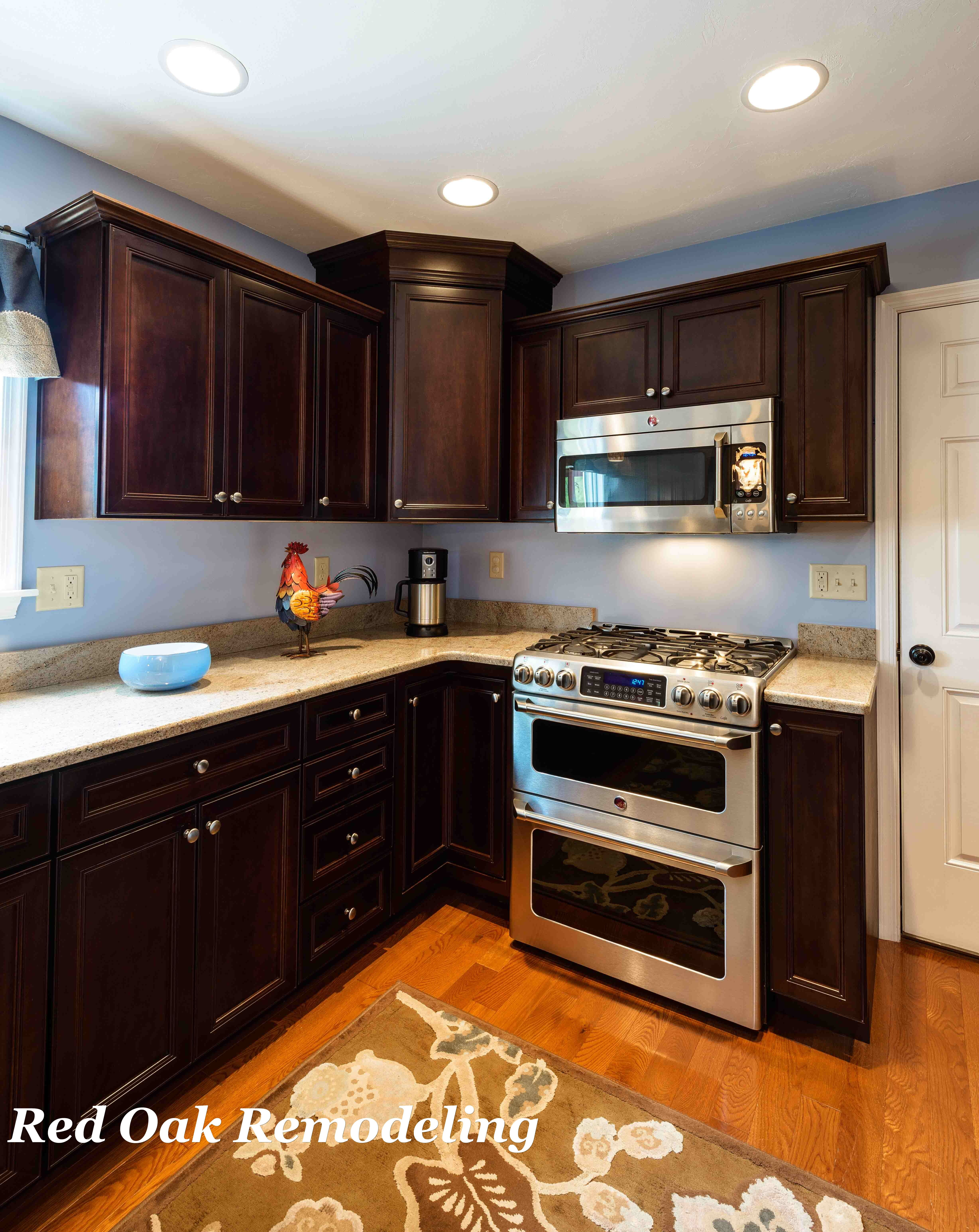 Maple Cabinets With A Coffee Stain Finish We Ve Completely Changed Course From The White Cabinets I Thought I W My Home Design Kitchen Remodel Home Comforts