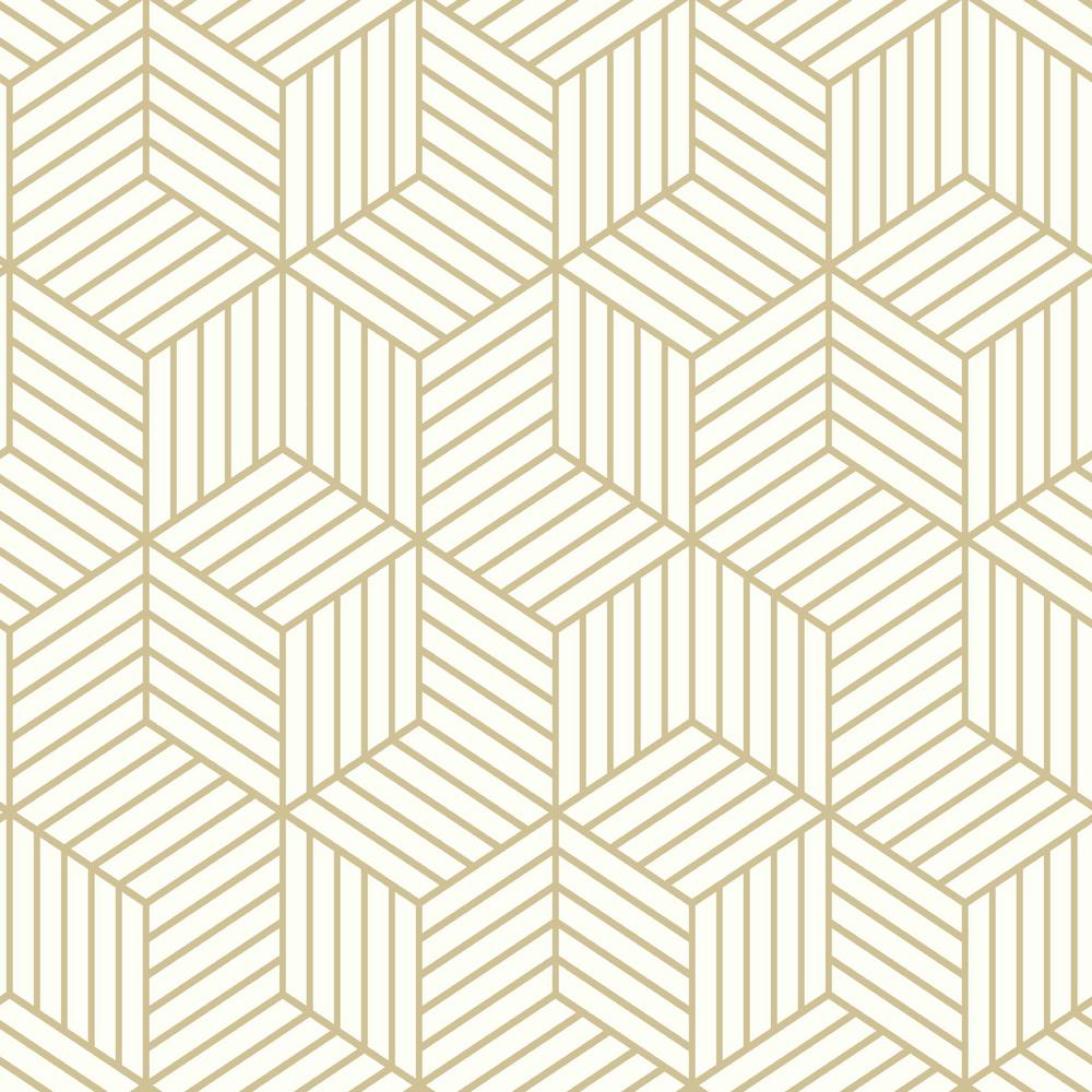 Roommates Striped Hexagon White And Gold Geometric Vinyl Peel Stick Wallpaper Roll Covers 28 18 Sq Ft Rmk10704wp The Home Depot Peel And Stick Wallpaper Embossed Wallpaper Vinyl Wallpaper