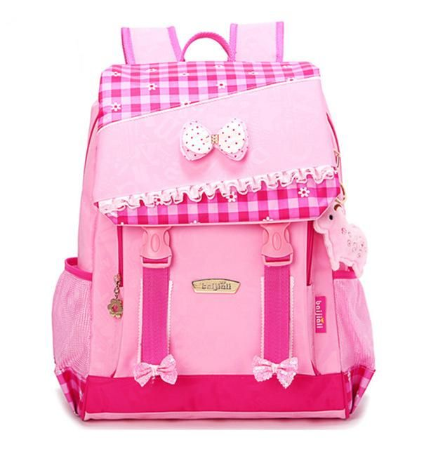 Girls School Bags Orthopedic Princess Schoolbags Children Backpack boys  Cartoon Bear Car Primary Bookbag Kids Mochila Infantil 95367ef8bd7b0