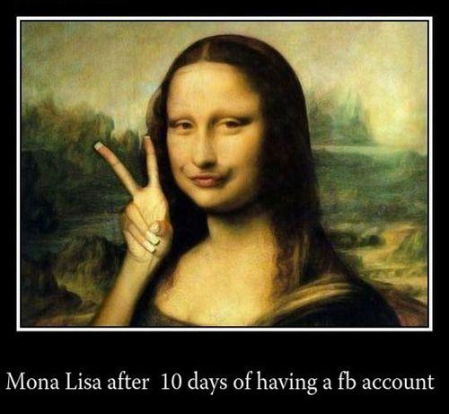 Mona Lisa is now on facebook