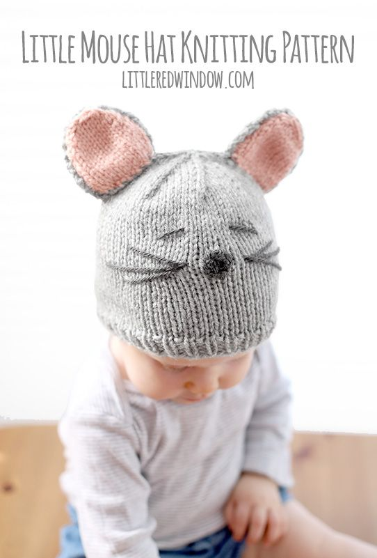 Little Mouse Hat Knitting Pattern | Bebe