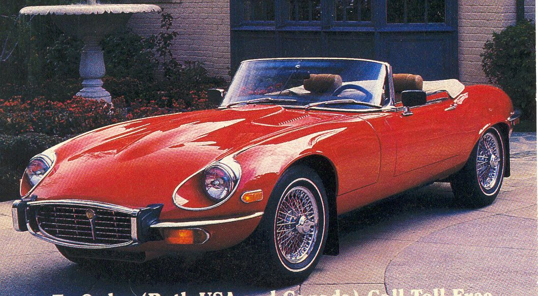 1972 Jaguar E Type Series III V 12 Roadster Removable Hardtop