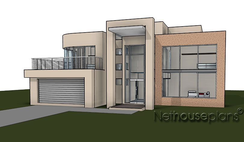 Modern contemporary style, 4 bedroom house plan, double ...